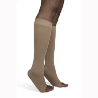 SIGVARIS 841C 15-20 mmHg Soft Opaque Knee High-Open Toe